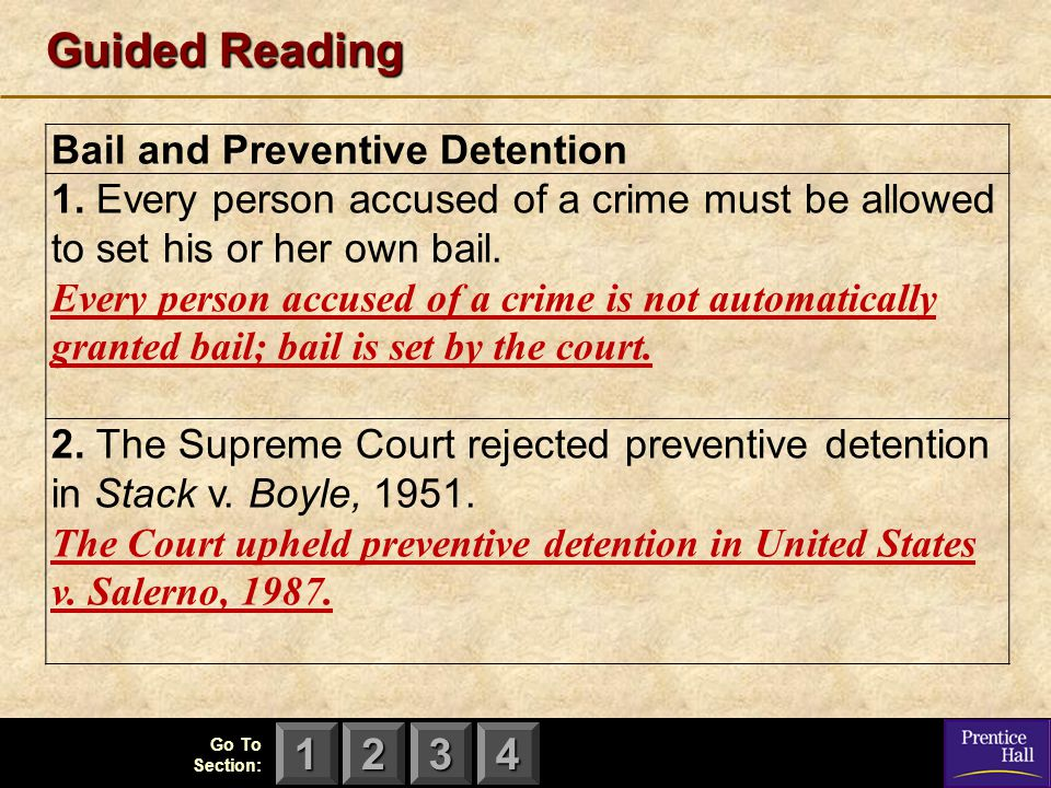 Guided Reading Bail and Preventive Detention