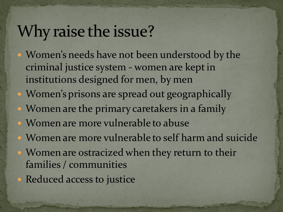 Why raise the issue