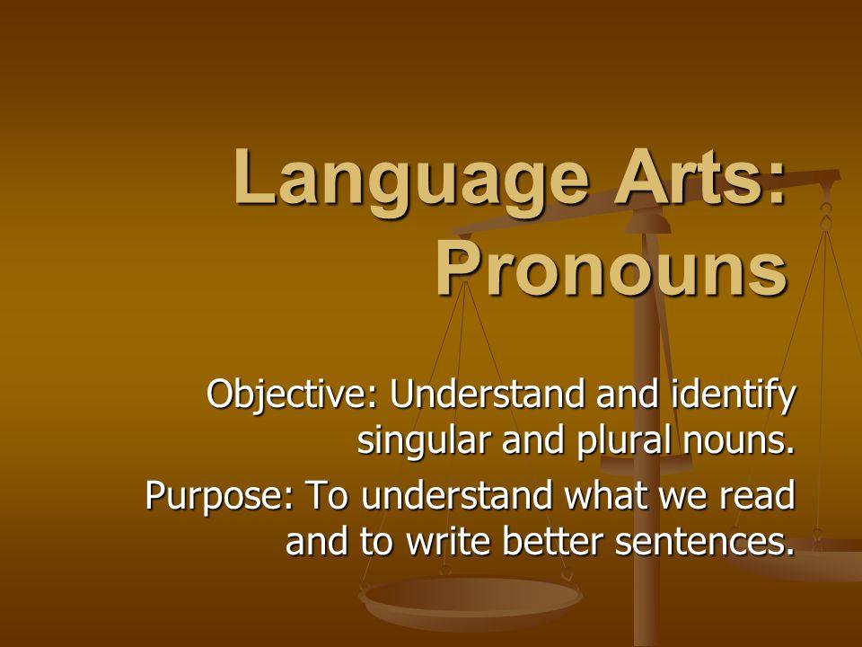 Language Arts: Pronouns