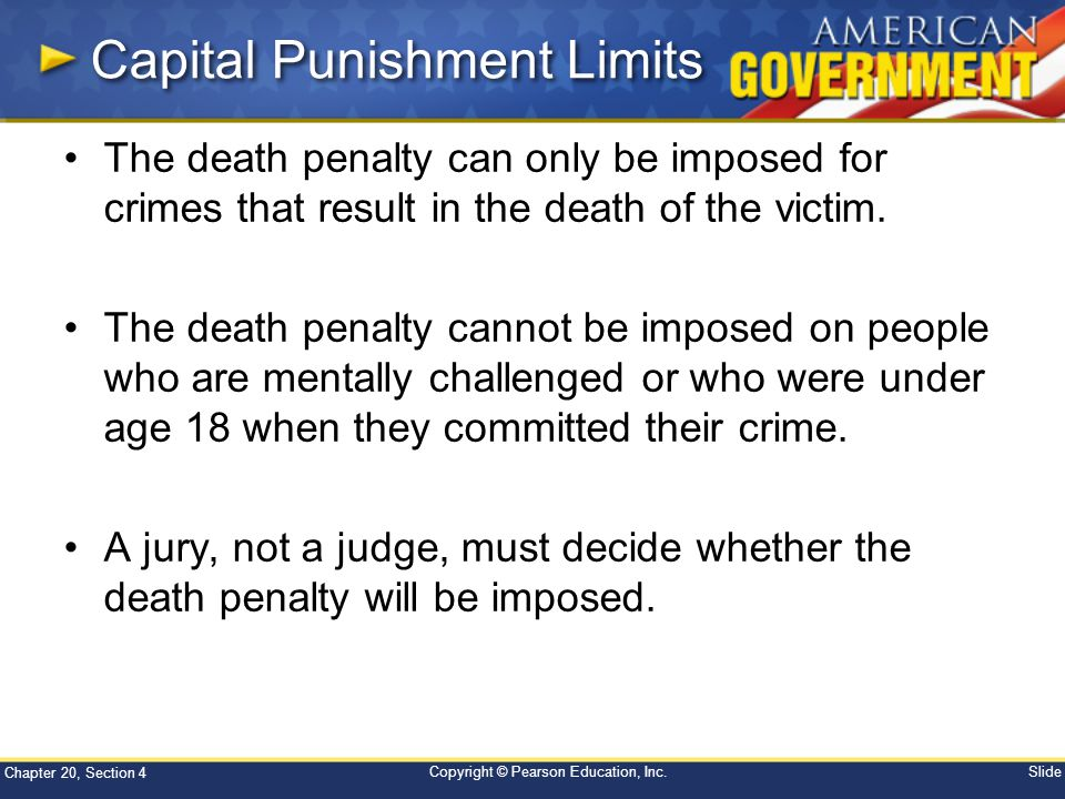 Capital Punishment Limits
