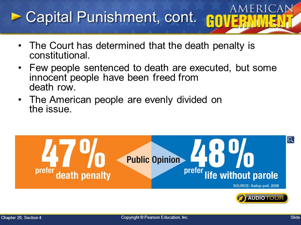 Capital Punishment, cont.