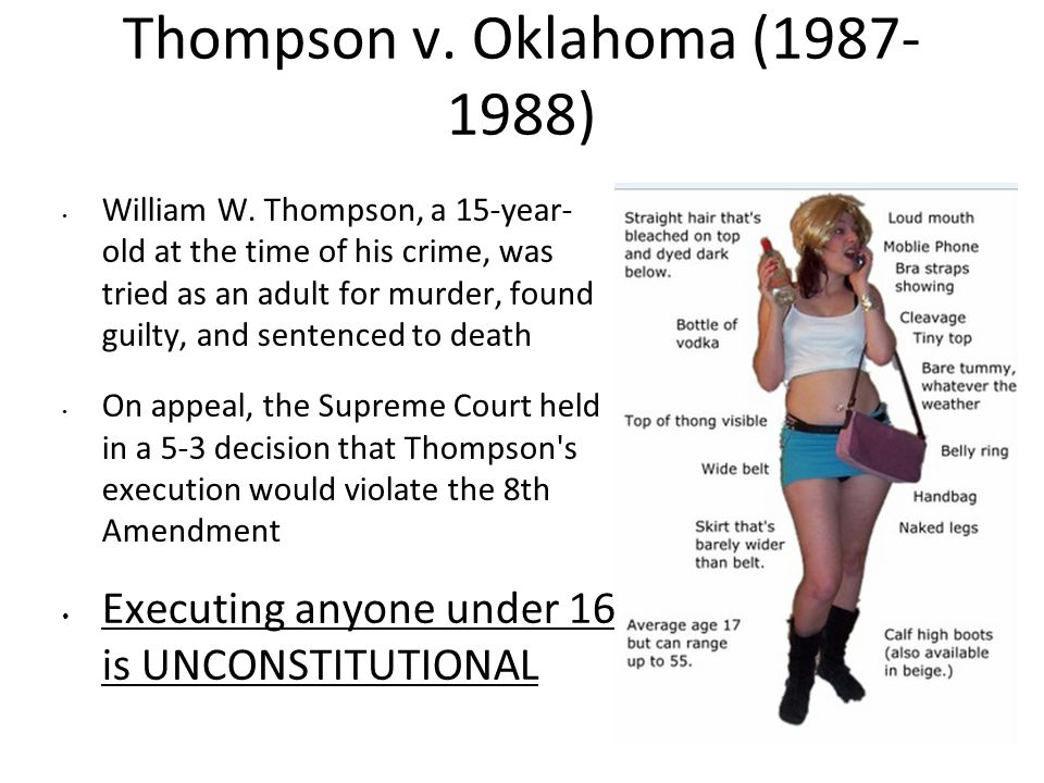 Thompson v. Oklahoma (1987-1988)