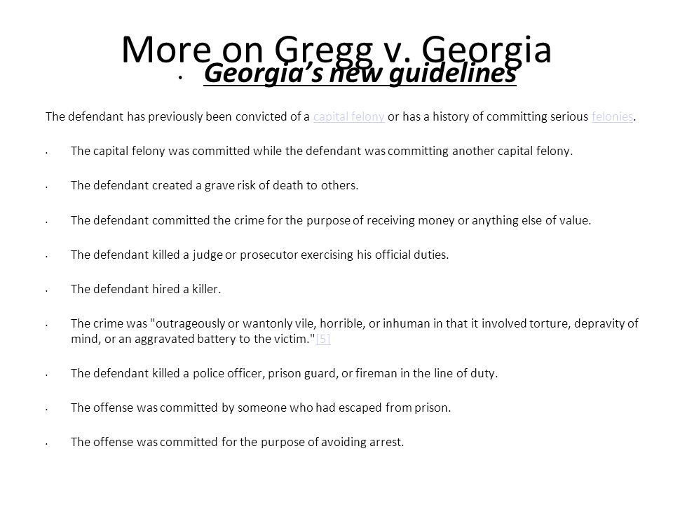 Georgia's new guidelines