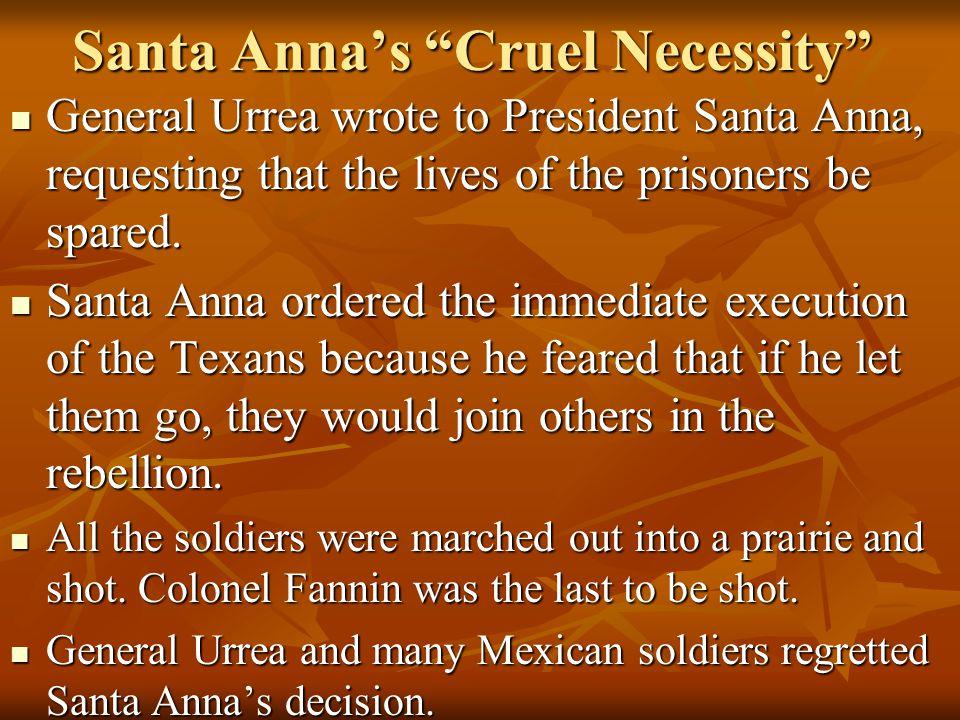 Santa Anna's Cruel Necessity
