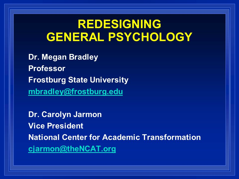 Redesigning General Psychology