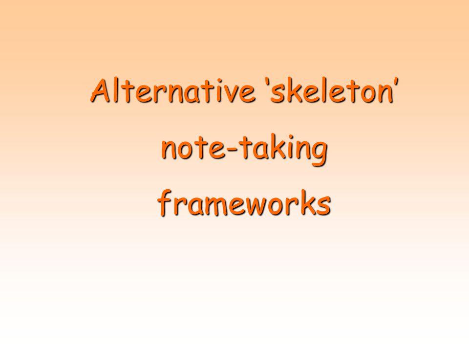 Alternative 'skeleton'