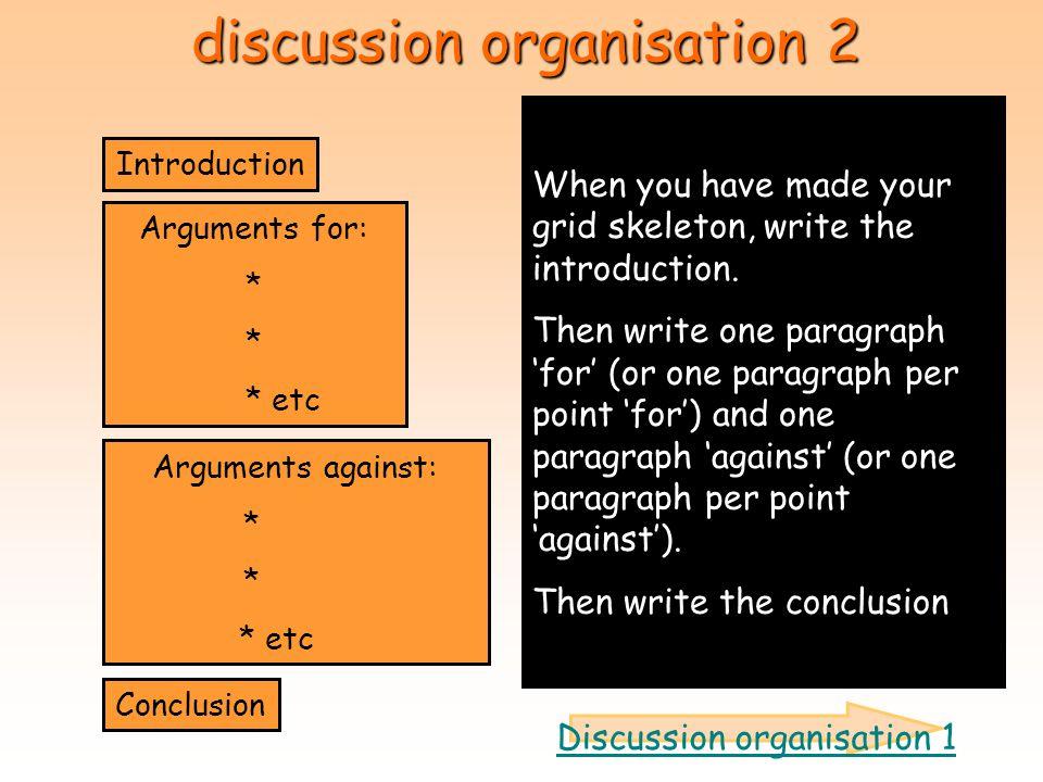 discussion organisation 2