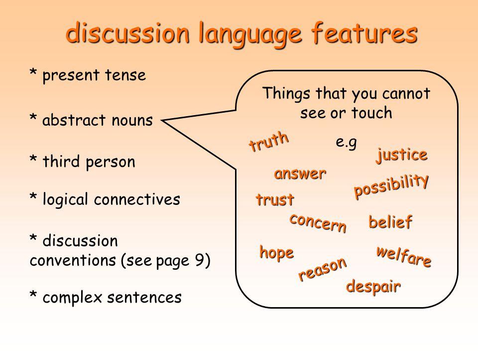 discussion language features