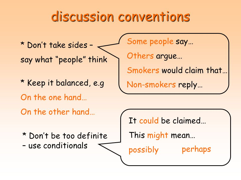 discussion conventions
