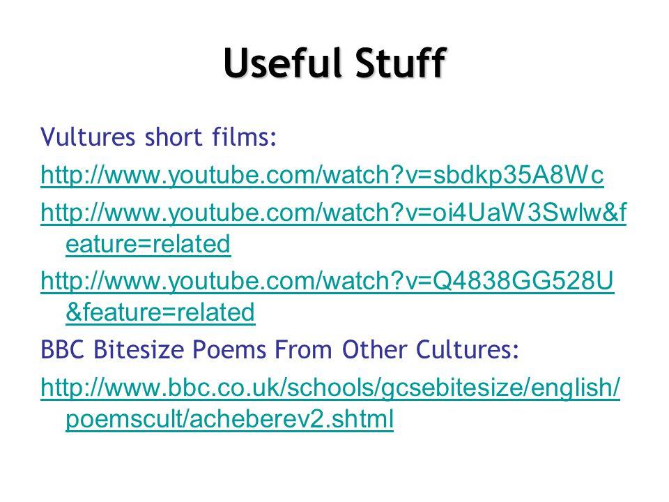 Useful Stuff Vultures short films: