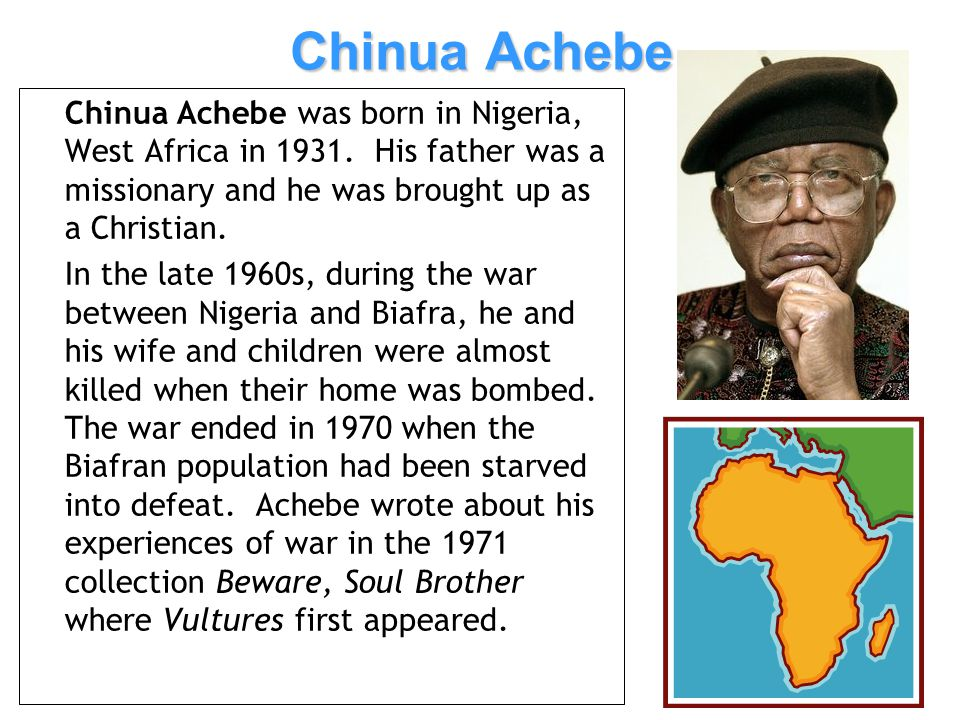 Terrorism Essay In English Vultures By Chinua Achebe Essay Dulce Et Decorum Est By Wilfred Owen And  Vultures By Chinua English Essay Structure also Narrative Essay Papers Vultures By Chinua Achebe Essay Homework Academic Writing Service  Essay Com In English
