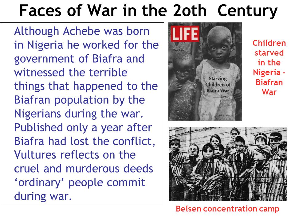 Faces of War in the 2oth Century