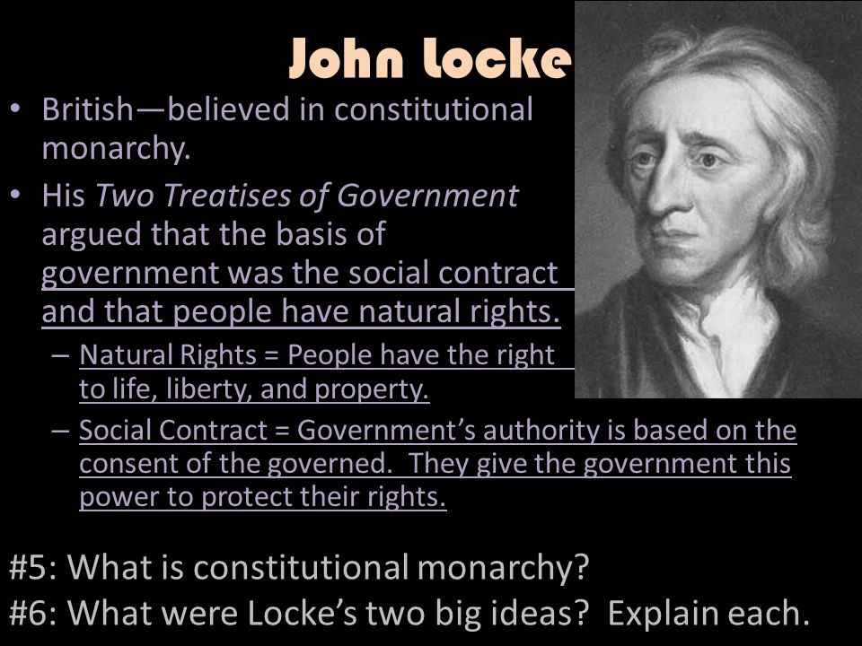 John Locke #5: What is constitutional monarchy
