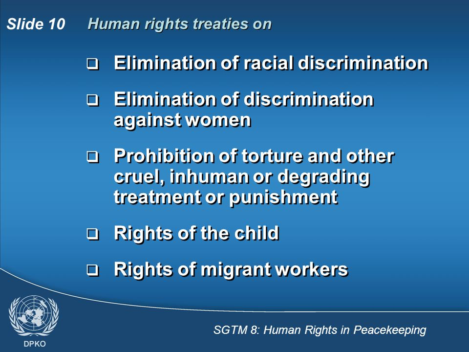 Human rights treaties on