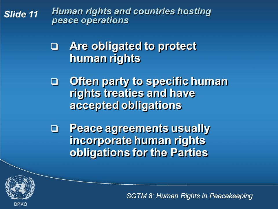 Human rights and countries hosting peace operations