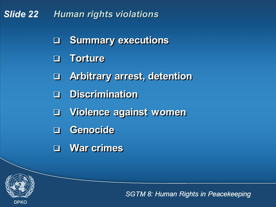 Human rights violations