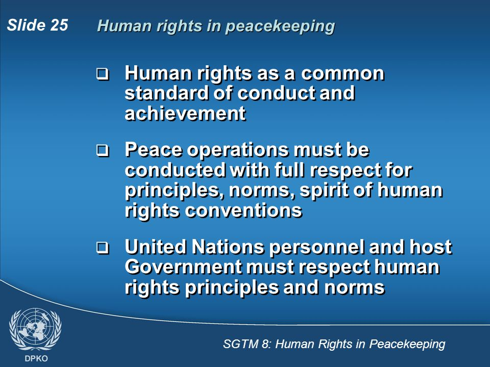Human rights as a common standard of conduct and achievement