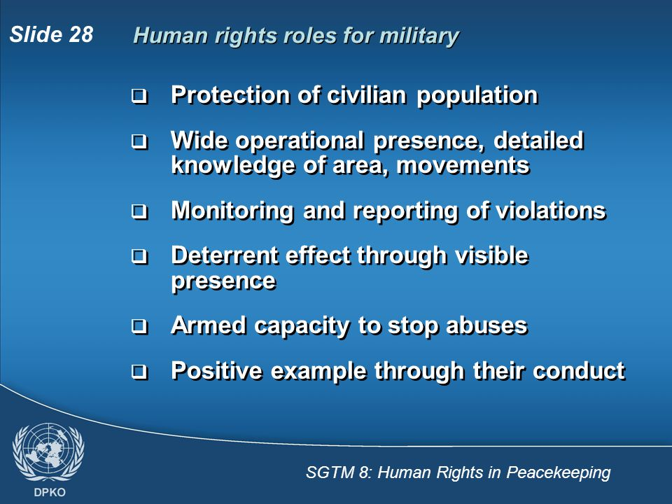 Protection of civilian population
