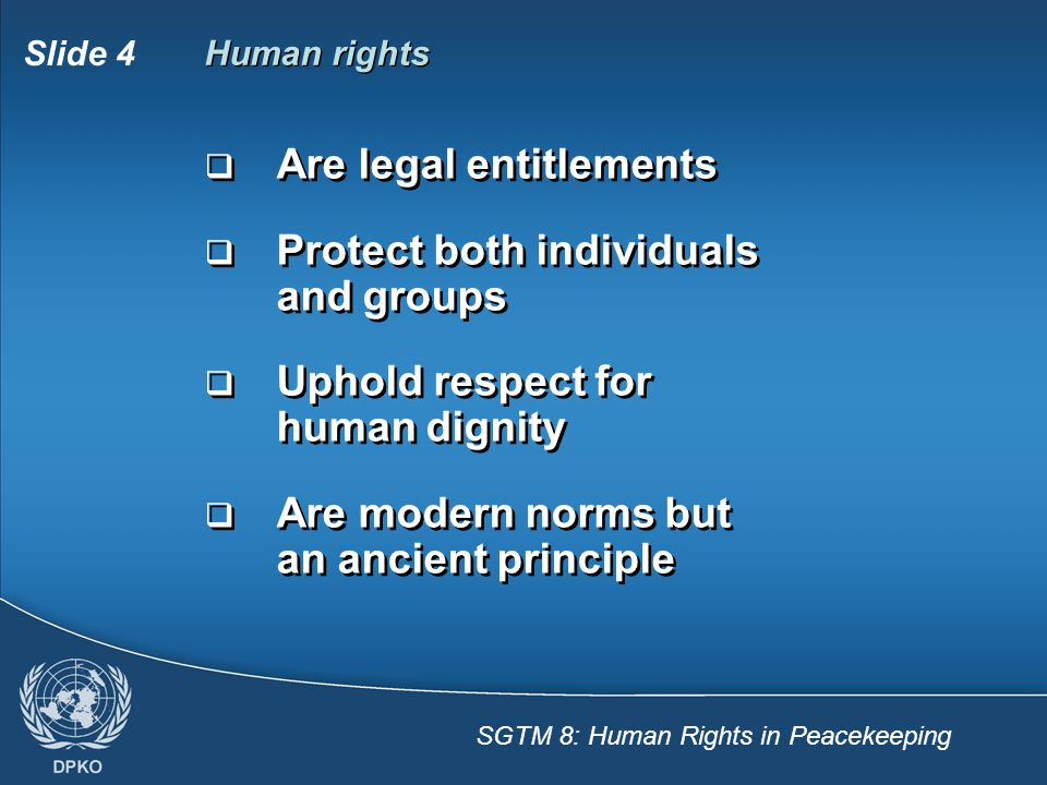 Are legal entitlements Protect both individuals and groups