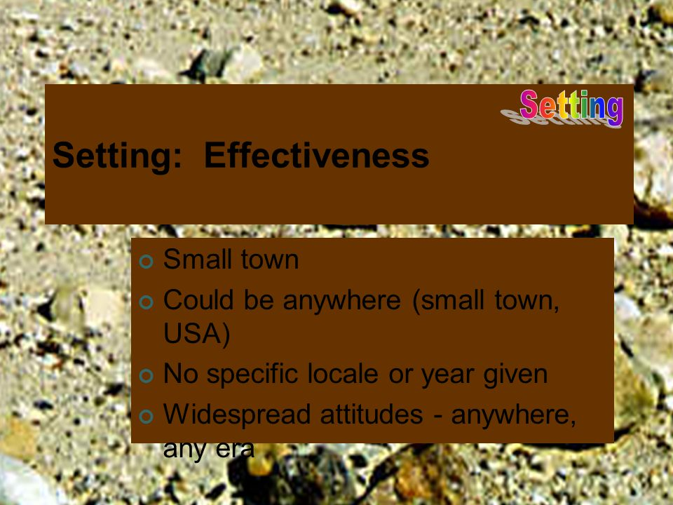 Setting: Effectiveness