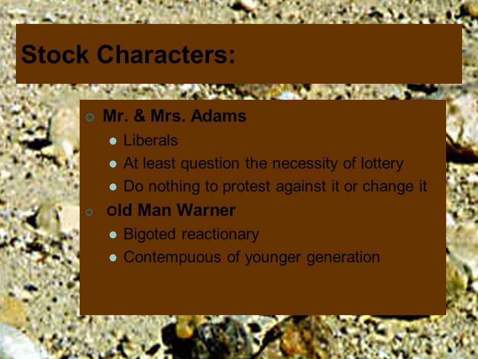 Stock Characters: Mr. & Mrs. Adams Liberals