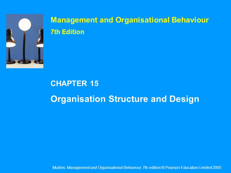 The meaning of organisational structure