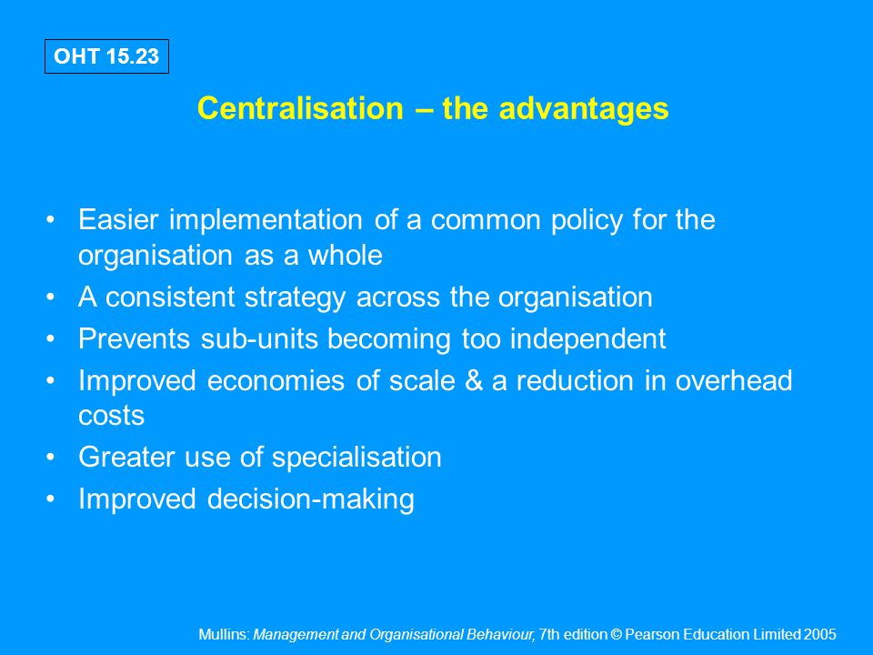 Decentralisation – the advantages