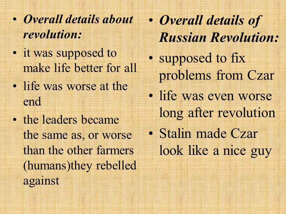 Overall details of Russian Revolution: