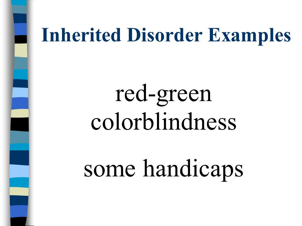 Inherited Disorder Examples