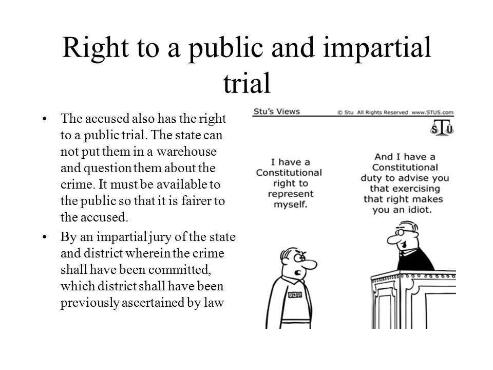 Right to a public and impartial trial