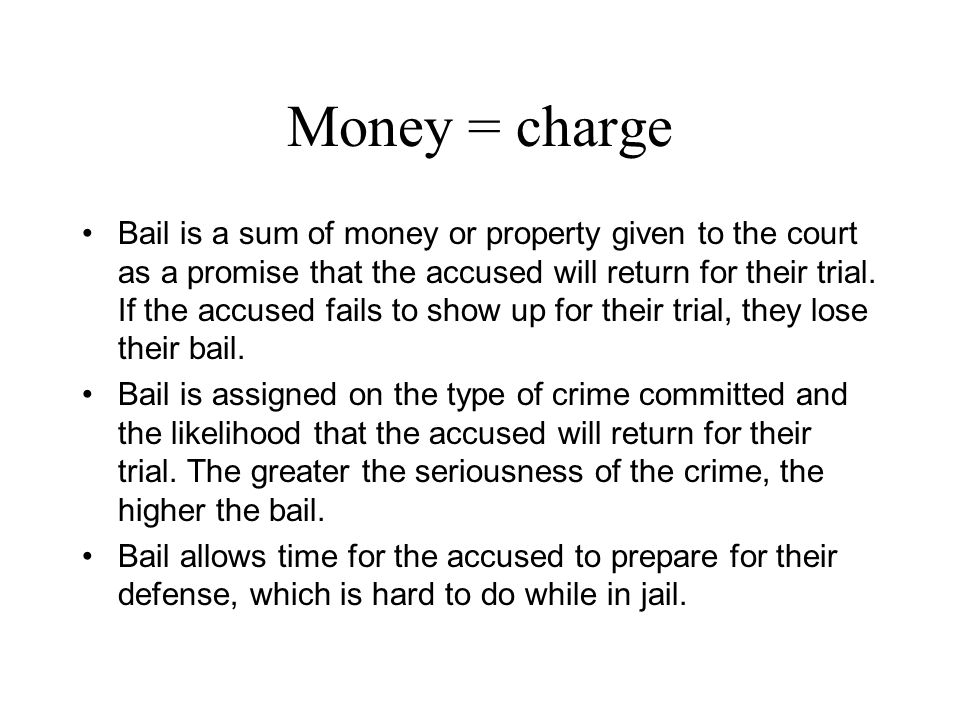 Money = charge