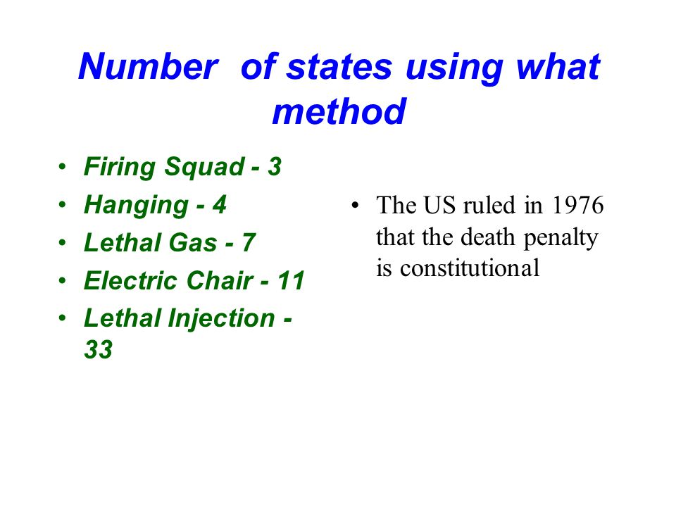 Number of states using what method