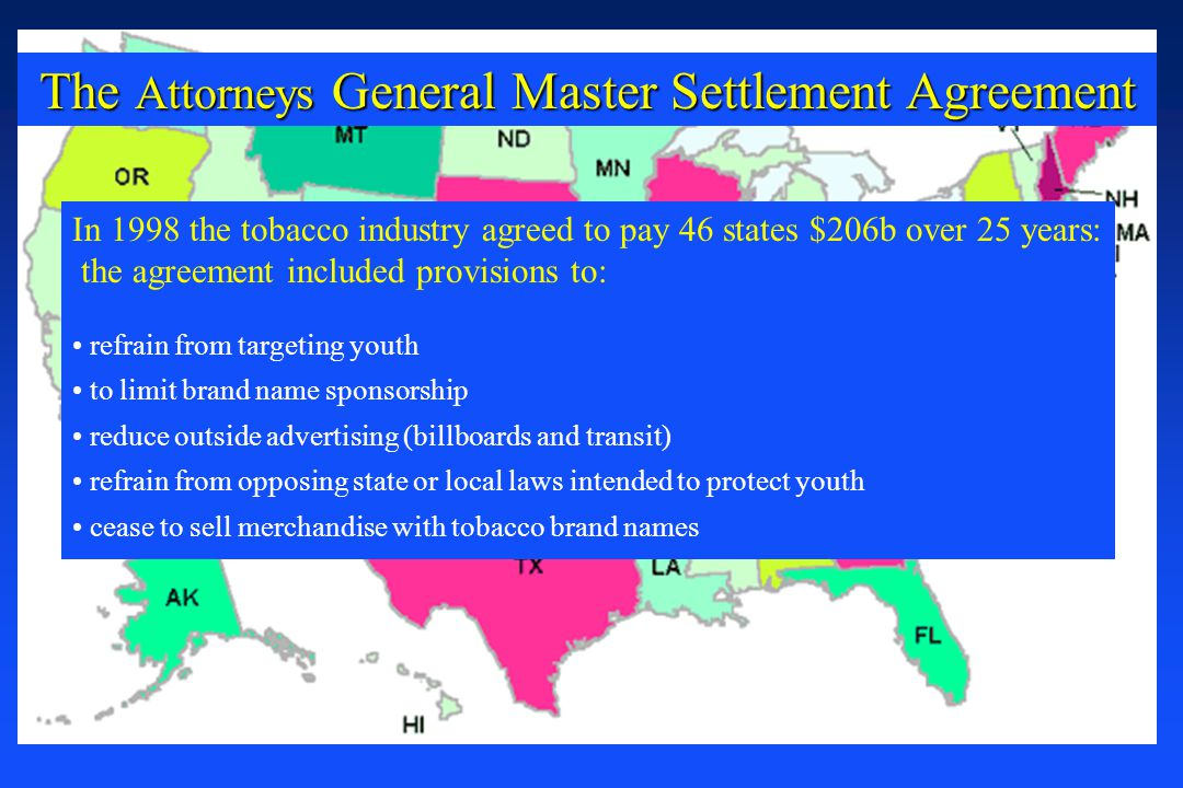 The Attorneys General Master Settlement Agreement