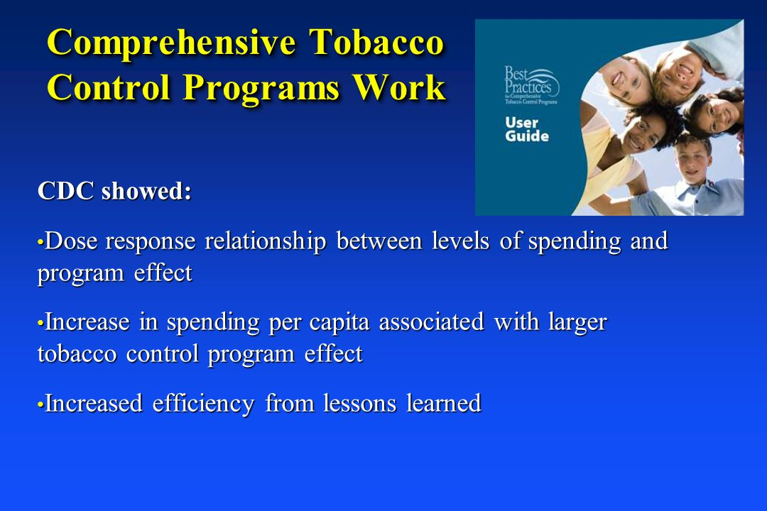 Comprehensive Tobacco Control Programs Work