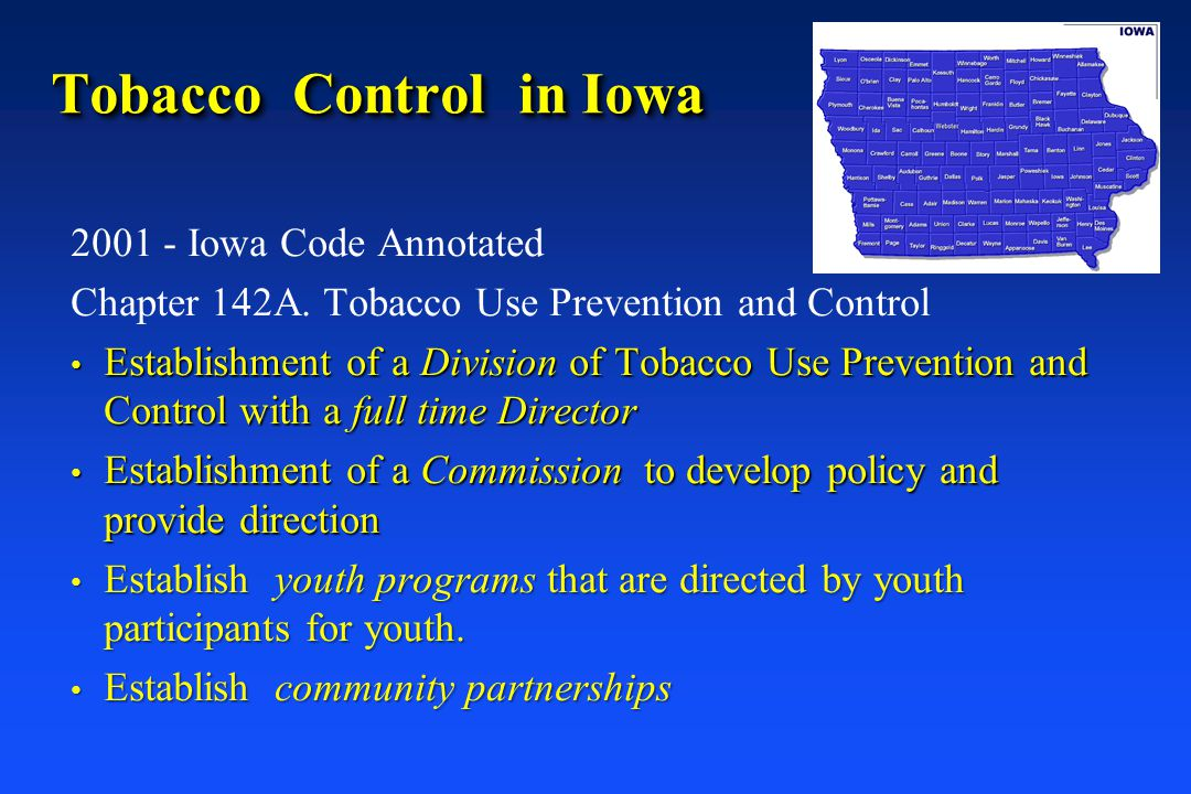 Tobacco Control in Iowa