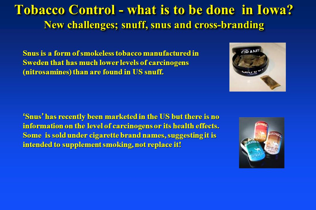 Tobacco Control - what is to be done in Iowa