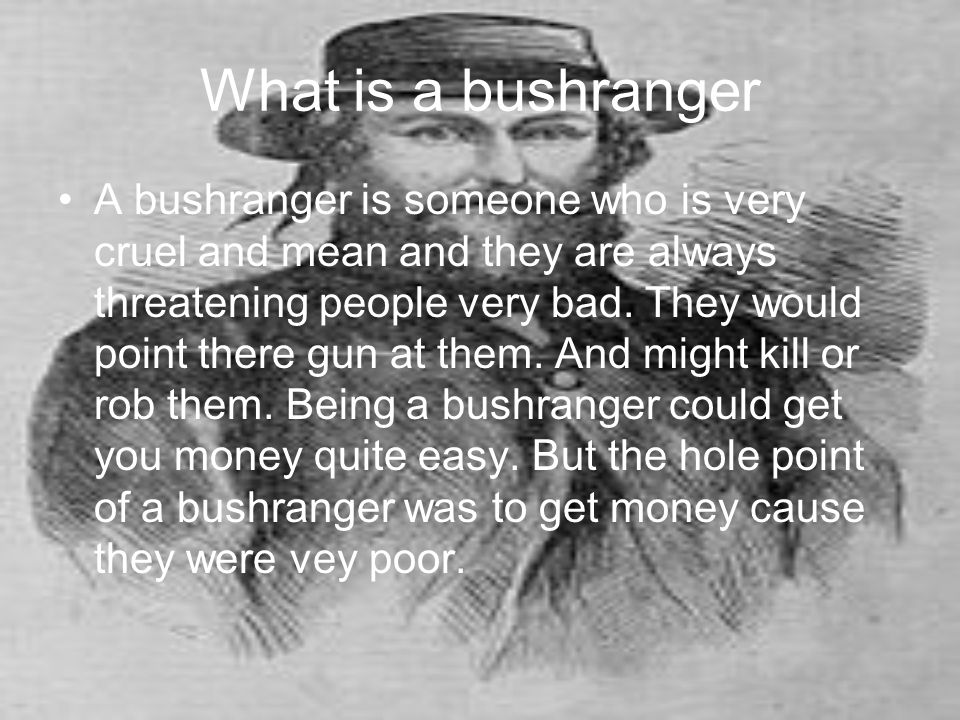 What is a bushranger