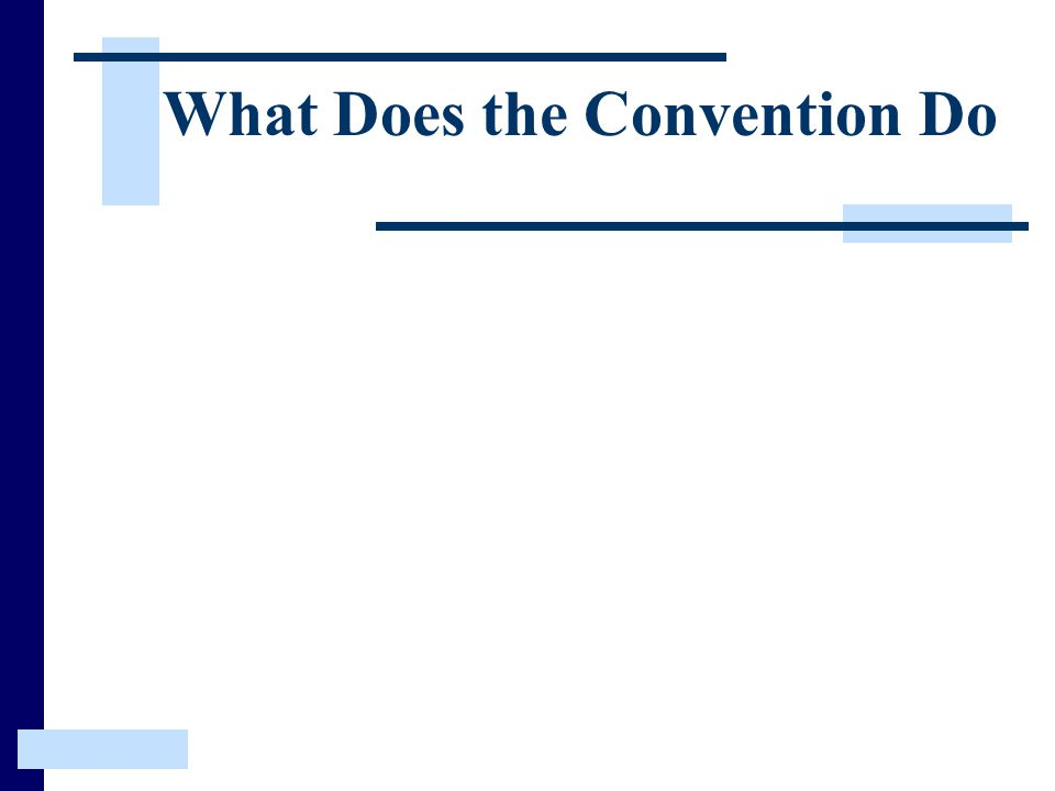 What Does the Convention Do