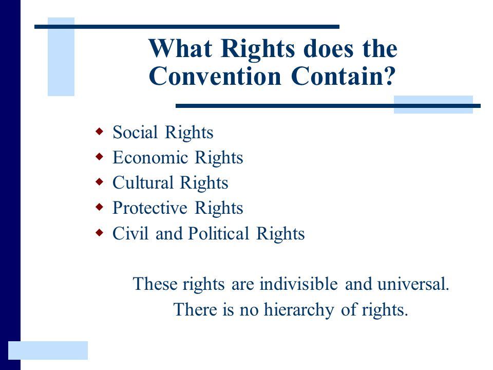 What Rights does the Convention Contain