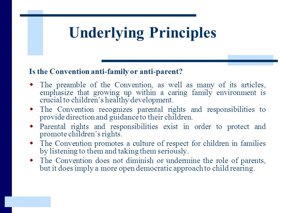Underlying Principles
