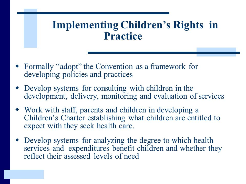 Implementing Children's Rights in Practice