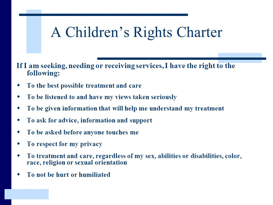 A Children's Rights Charter