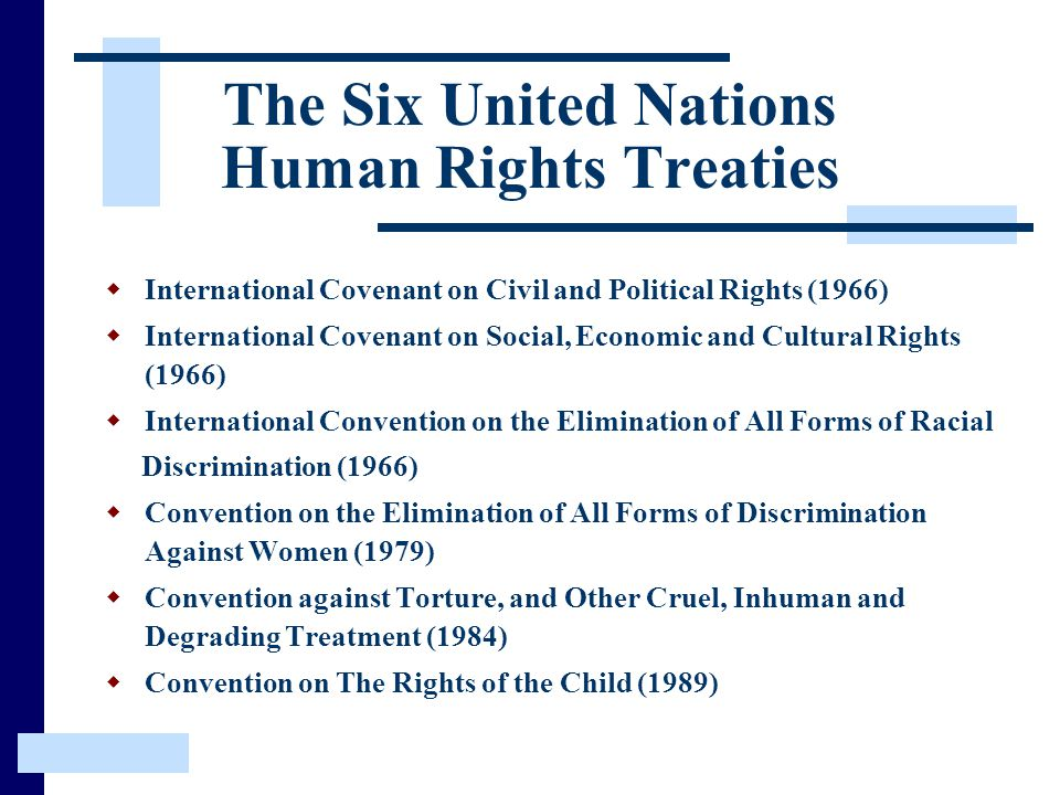 The Six United Nations Human Rights Treaties