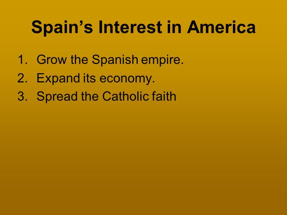 Spain's Interest in America