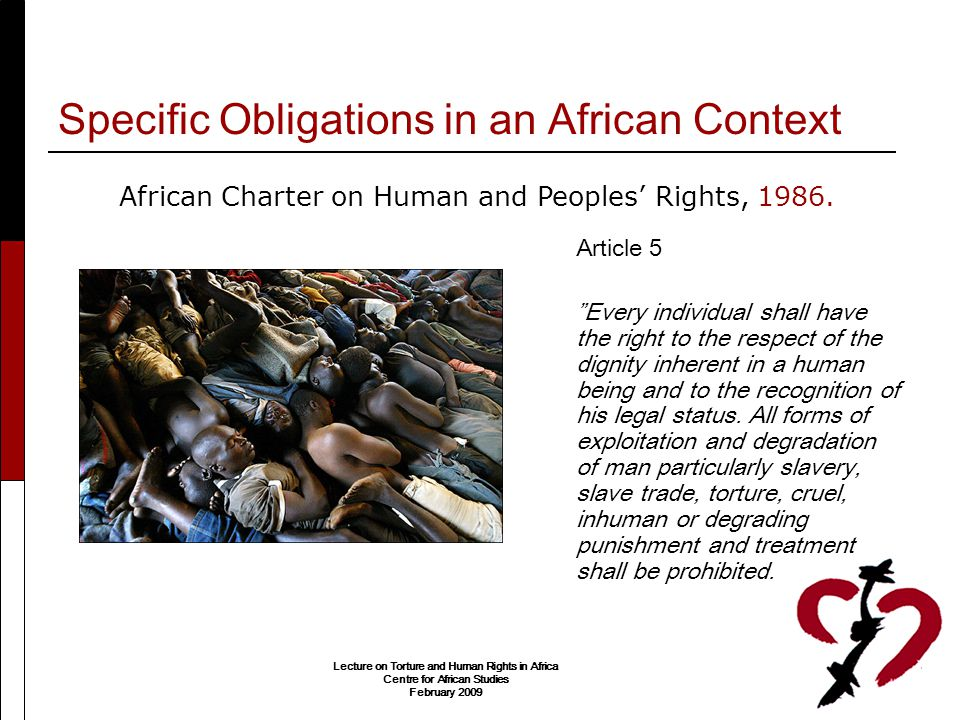 Specific Obligations in an African Context