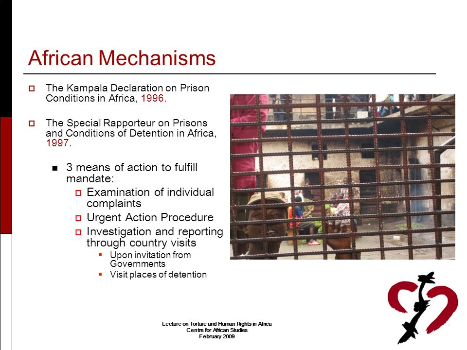 African Mechanisms 3 means of action to fulfill mandate: