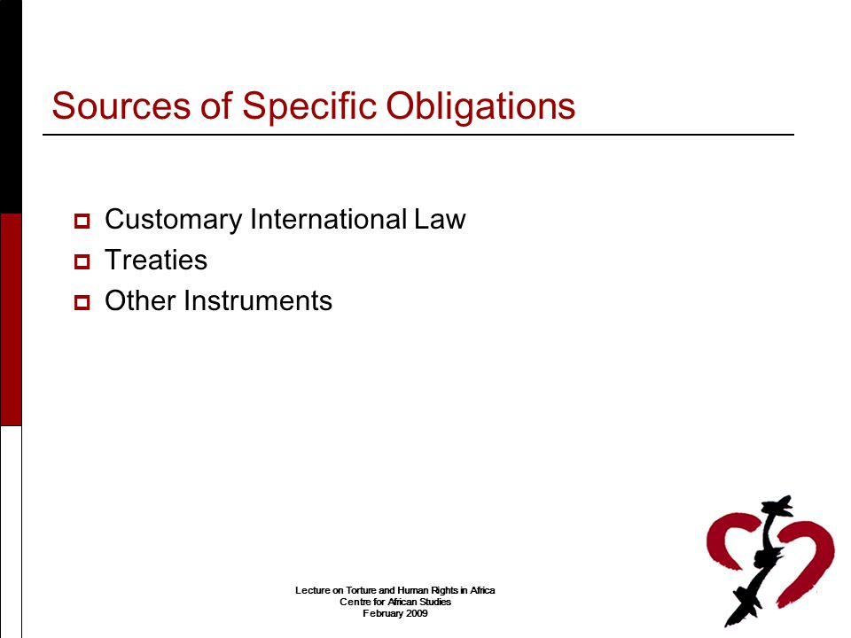 Sources of Specific Obligations
