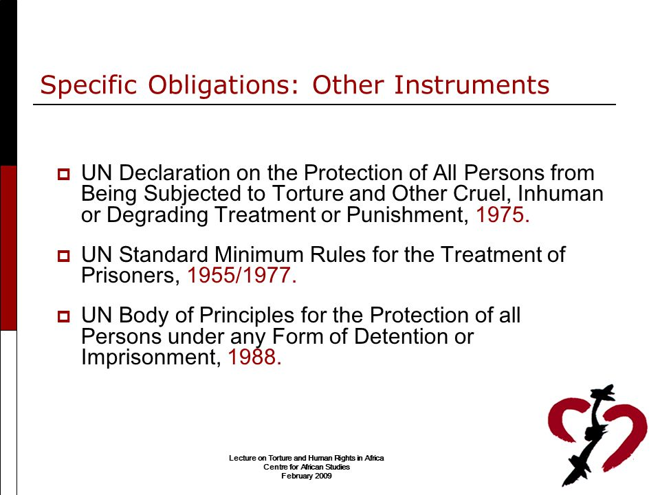 Specific Obligations: Other Instruments