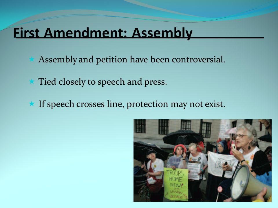 First Amendment: Assembly