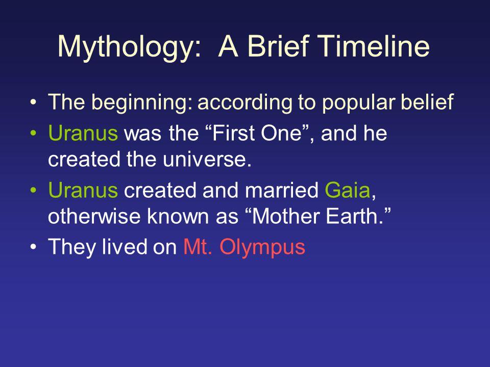 Mythology: A Brief Timeline